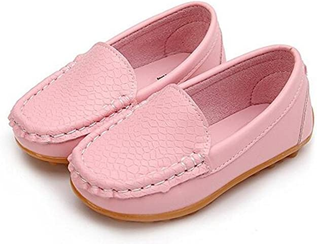 Toddler//Little Kid SOFMUO Kids Boys Girls Leather Loafers Slip-On Oxford Flats Boat Dress Schooling Daily Walking Shoes