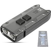 NITECORE TIP SE 700 Lumen USB-C Rechargeable LED Keyring Torch 4 Modes Waterproof Pocket Keychain Flashlight ([ GREY ])