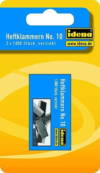 10 verzinkt 2 x 1000 St/ück Nr Idena 332017 Heftklammern