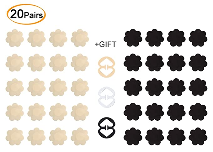 2285c8c3e85 Daisyformals 20 Pairs Pasties Satin Nipple Cover Stickers Disposable ...