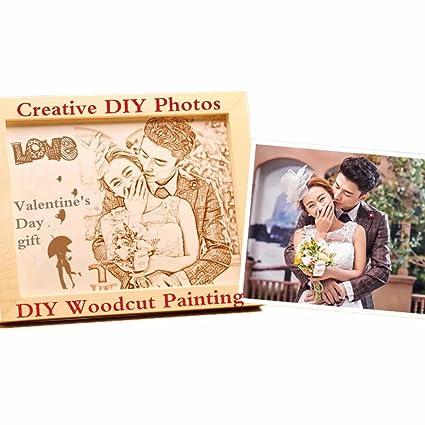 Amazon Photo Frames Diy Woodcut Painting Custom Birthday