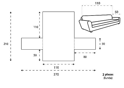 Textilhome - Funda Cubre Sofá Malu, 2 Plazas, Protector para Sofás Acolchado Reversible. Color Marrón C/2