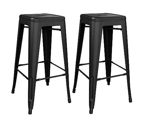 Outstanding Amazon Com Black Metal Bar Stool Industrial Wind Retro High Uwap Interior Chair Design Uwaporg
