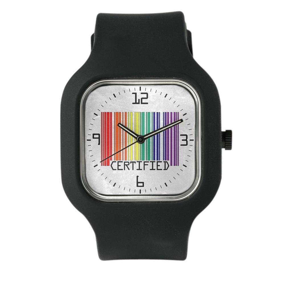 Black Fashion Sport Watch Gay Certified Pride Bar Code