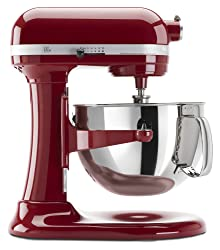 KitchenAid KP26M1XER Professional 600 Series 6-Quart Stand Mixer in Empire Red