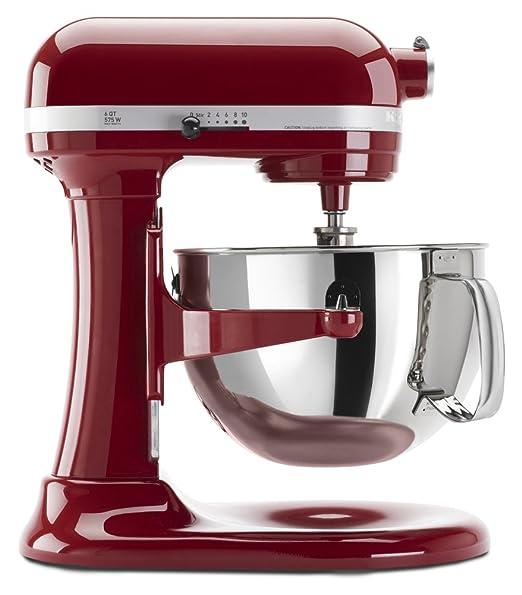 KitchenAid Professional 600 - Batidora (Batidora de varillas, 5,7 L, Mezcla, Puré, Remover, Rojo, Acero inoxidable, Metal): Amazon.es: Hogar