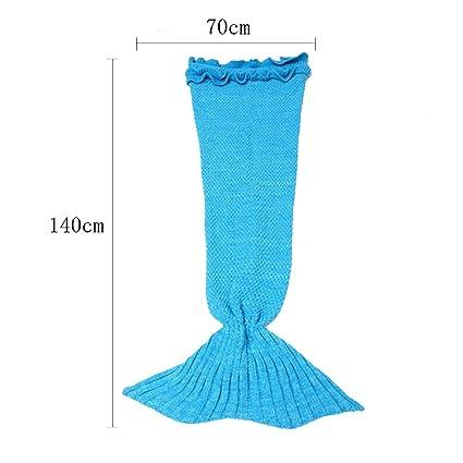 365days mantas hogar tejer manta saco de dormir de sofá manta – Manta de peces cola