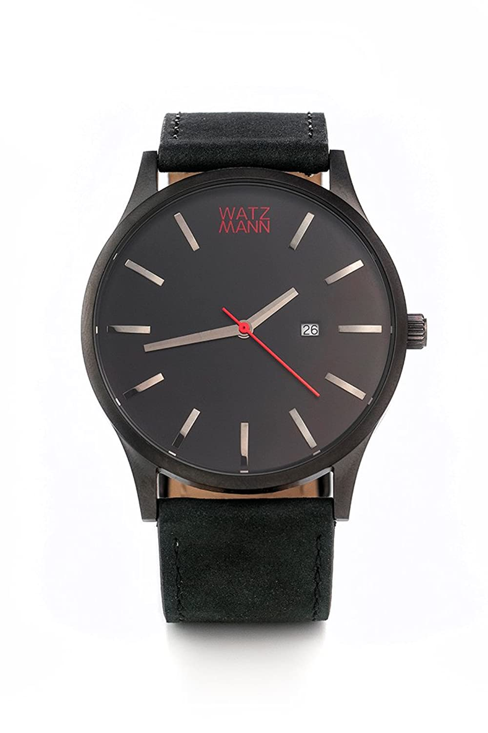 WATZMANN watch -- black black edition - minimalistische Herrenuhr