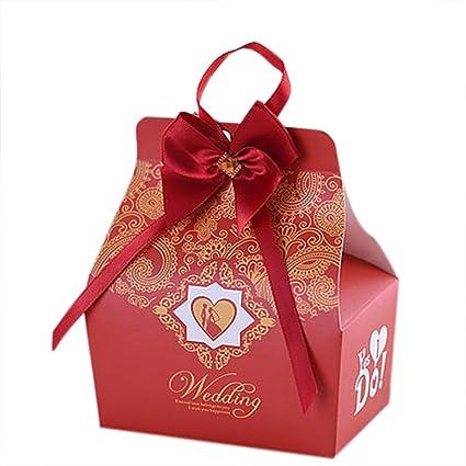 Amazon Autulet High End Vintage Candy Box Red Wedding Handbag