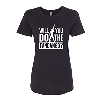 093ea82d Amazon.com: Will You Do The Fandango? Ladies Short Sleeve Printed Graphic  Tee Shirt: Clothing