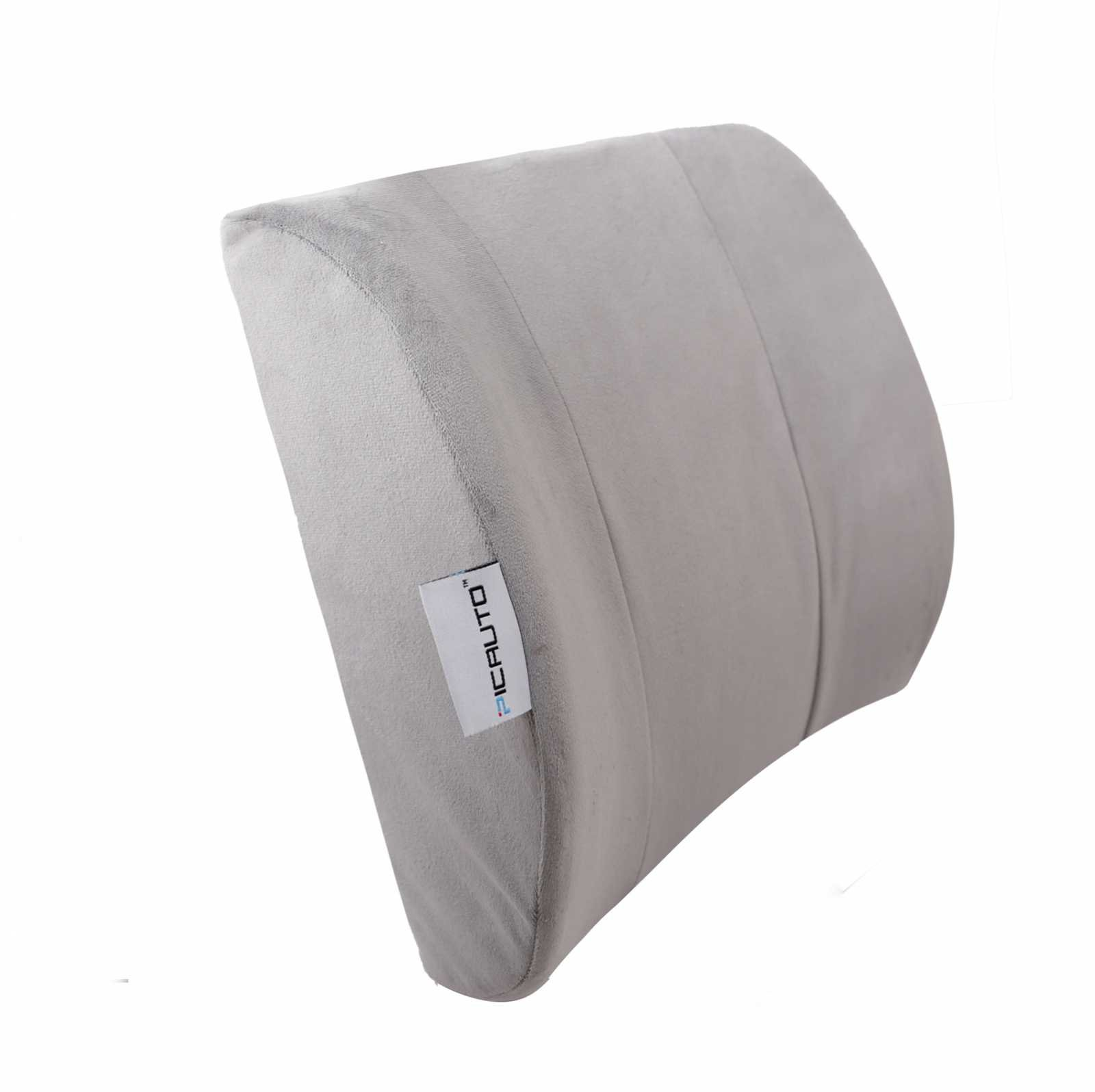 Lumbar Support Cushion Pillow - Orthopedic Design for Lower Back Pain Relief (Gray)