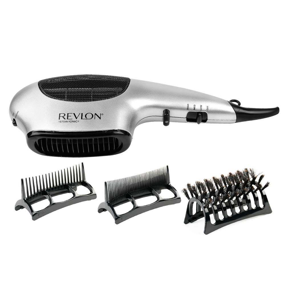 Revlon Perfect Heat 1875W Fast Dry Multi-Styler, Black SILVER
