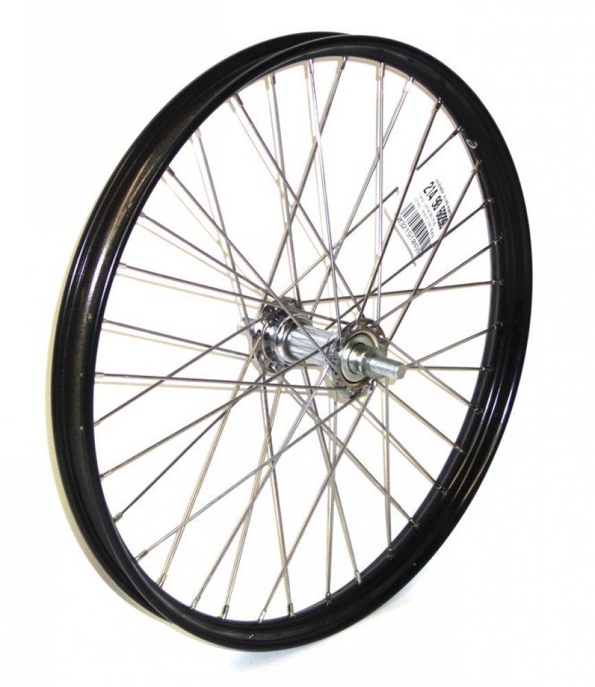 Bike-Parts 20´´ Vorderrad für Transportfahrrad    schwarz, Stahl