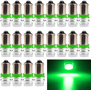 EverBright 20-Pack Amber//Yellow BA9 BA9S 53 57 1895 64111 T4W Aluminum SMD 1W LED Replacement for Car License Plate Light Bulb Side Door Courtesy Door Lamp Interior Map Lights DC12V