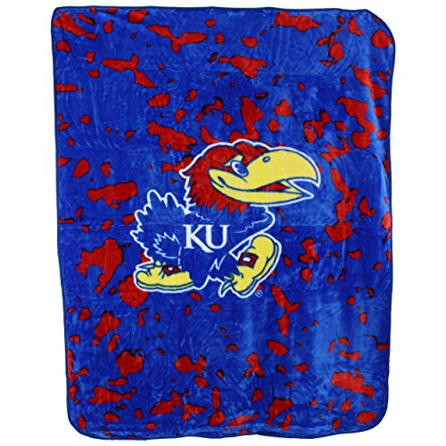 College Covers Kansas Jayhawks Throw Blanket/Bedspread (Jayhawks Throw)