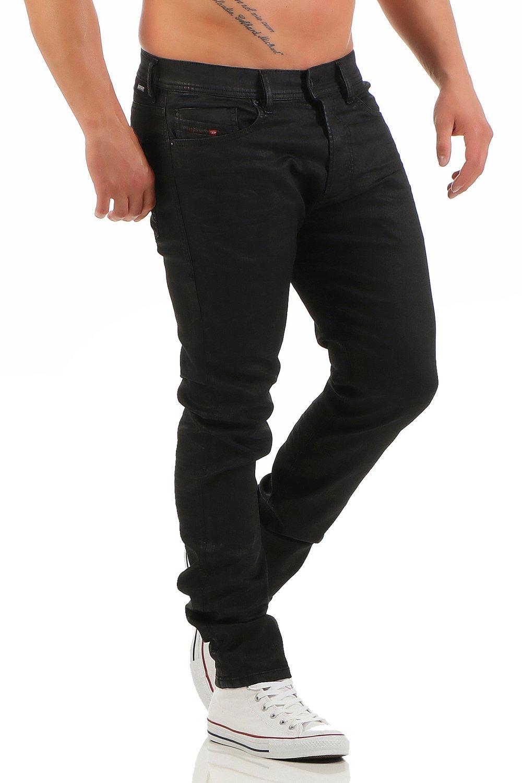 DIESEL Men's Tepphar Oiled Slim Fit Jeans 30|32 Black