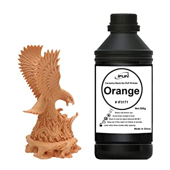 IFUN - Resina de cerámica para impresora 3D DLP, cera roja, 405 nm ...