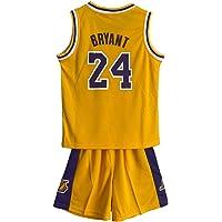 MASTERPETZ Kobe Jersey, 24, Niños Niñas Jerseys de Baloncesto Trajes de Verano Kits Top + Shorts