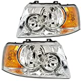 RVLightings Rexhall Roseair 2006-2007 RV Motorhome Pair (Left & Right) Chrome Headlights NEW