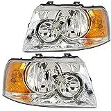 RVLightings Thor Motor Coach Hurricane 2010-2013 RV Motorhome Pair (Left & Right) Chrome Headlights NEW