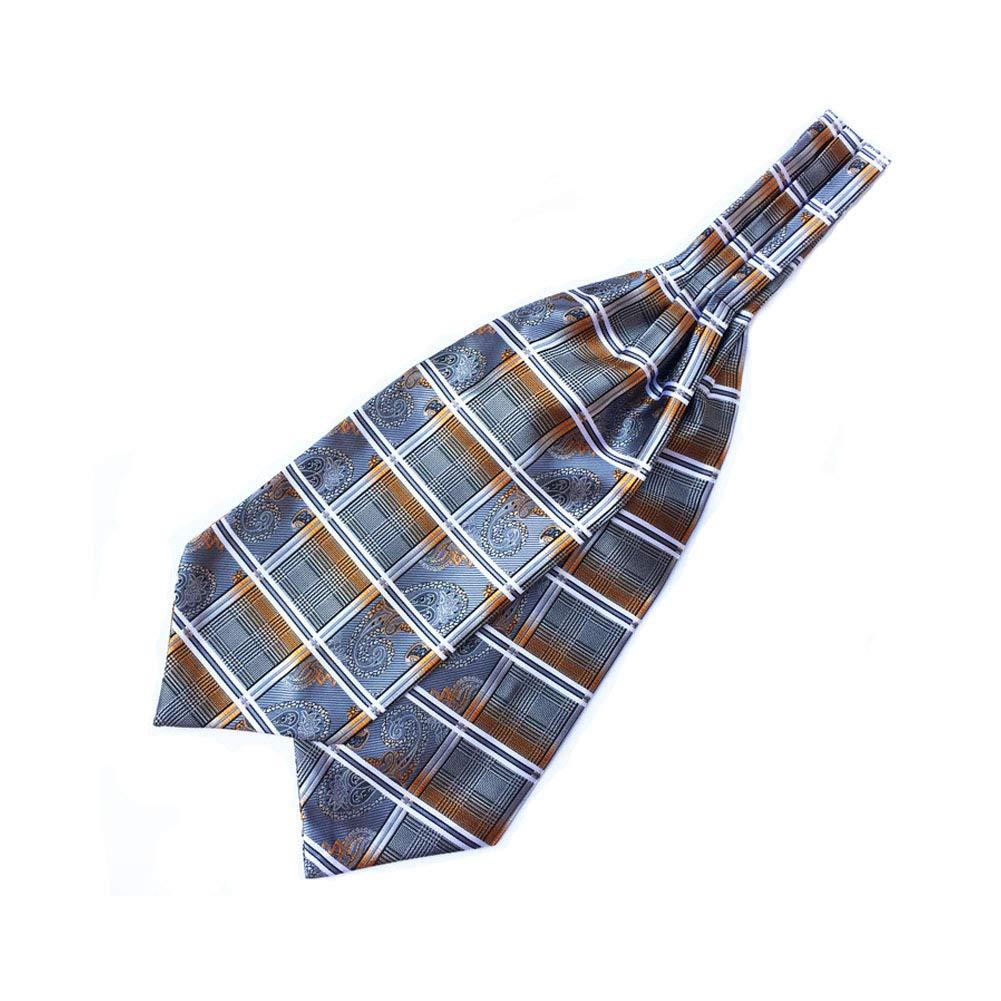 Michealboy Mens Paisley Floral Jacquard Woven Gift Luxury Self Cravat Tie