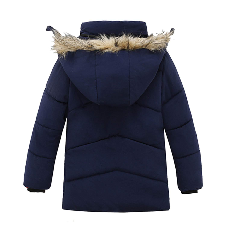 Mildred Jones Winter Boys Coats Long Sleeve Down Jackets Kids Outerwear Hooded Cotton Coats
