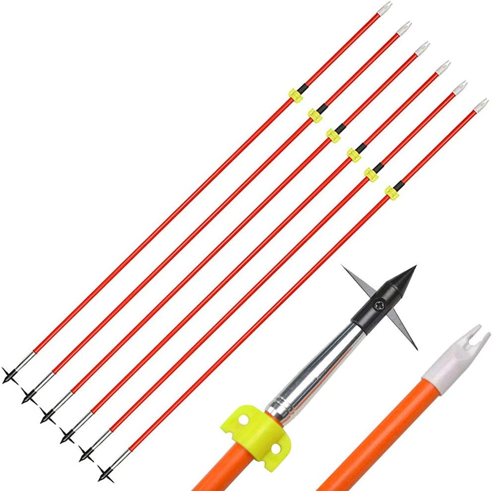32/'/' Archery Fiberglass Arrows With Replacement Tips Spine 600 for Bow Hunting