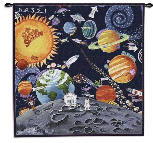 Solar System Kids Tapestry Wallhanging by Fine Art Tapestries
