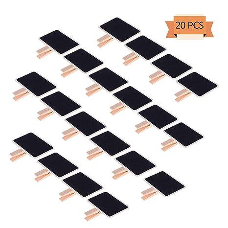 Amazon.com: Haomian 20 piezas Mini Clips de pizarra de ...