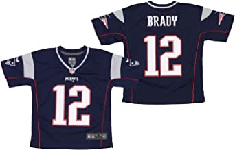 NFL New England Patriots Tom Brady #12 Little Boys (4-7) Game Jersey, Navy