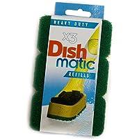 9 Heavy Duty Dishmatic Green Refill Sponges