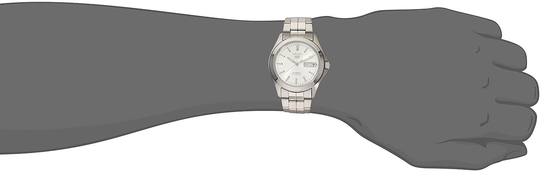 Seiko SNKK87K1 - Reloj analógico de caballero automático con correa de acero inoxidable plateada - sumergible a 30 metros: Seiko: Amazon.es: Relojes