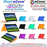 iPearl mCover Hard Shell Case for 13.3 Acer Chromebook R13 CB5-312T Series (NOT Compatible with Acer R11 and Other 11.6 chromebooks) Convertible Laptop (Acer R13) (Aqua)