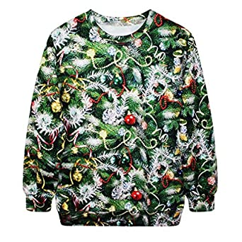 SAYM Christmas Santa Claus Cute Print Pullover Sweater Jumper Outwear style 17