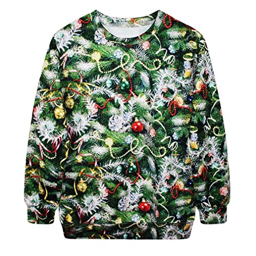 SAYM Christmas Santa Claus Cute Print Pullover Sweater Jumper Outwear style 16