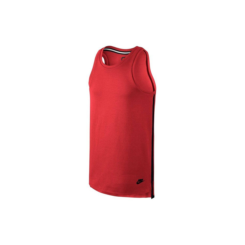 NikeメンズコントラストトリムTechフリースタンクトップ B0711ZKYZS XX-Large|Light Crimson/Black/Black Light Crimson/Black/Black XX-Large
