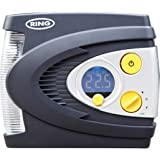 RING RAC635 12V Preset Digital Air Compressor with LED Work and Safety Light, Inflates fully deflated car tire in under…