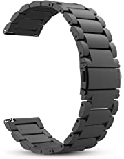 Fintie Band for Gear S3 / Galaxy Watch 46mm, 22mm Quick Release Stainless Steel Metal Replacement Strap Bands for Samsung Gear S3 Frontier / S3 Classic/Galaxy Watch 46mm Smartwatch, Black