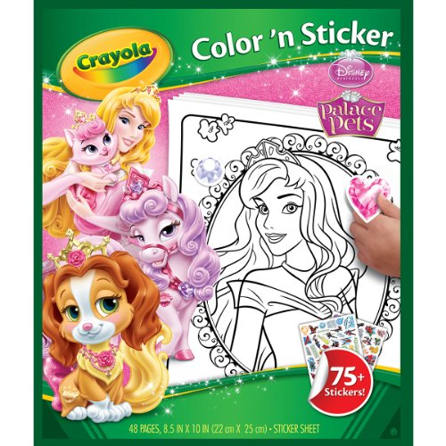 Palace Pets Coloring Pages (Crayola Disney Palace Pets Color 'n Sticker)