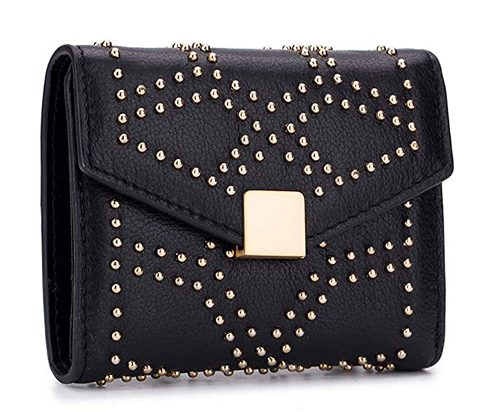a1b1c5f7c3e3 Women's Small Compact Bifold Leather Wallet Ladies Mini Short Pocket ...