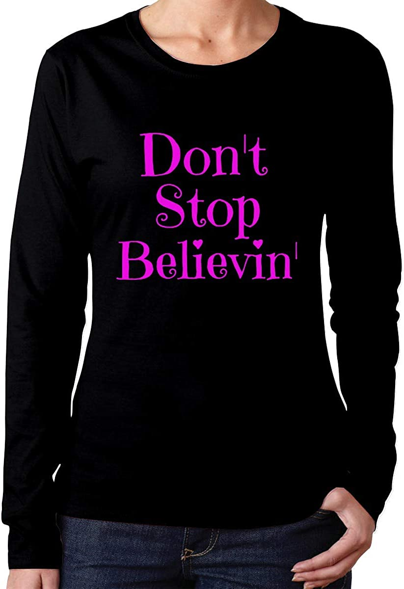 Camiseta de algodón de Manga Larga Don T Stop Believing ...