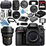 Nikon D7500 DSLR Camera (Body Only) 1581 AF-S 14-24mm f/2.8G ED Lens 2163 + Carrying Case + 256GB SDXC Card + Card Reader + Professional 160 LED Video Light Studio Series Bundle
