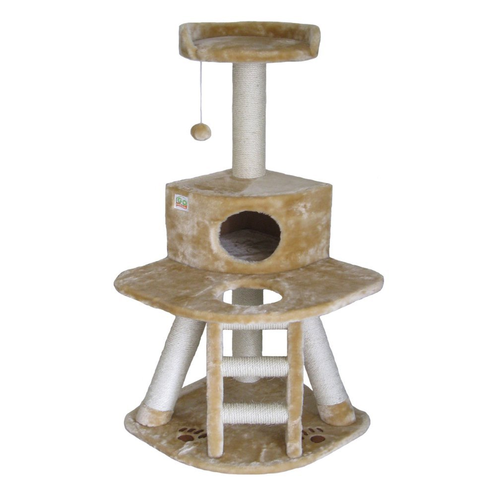 Go Pet Club F51 50-Inch Cat Tree Condo Furniture, Beige