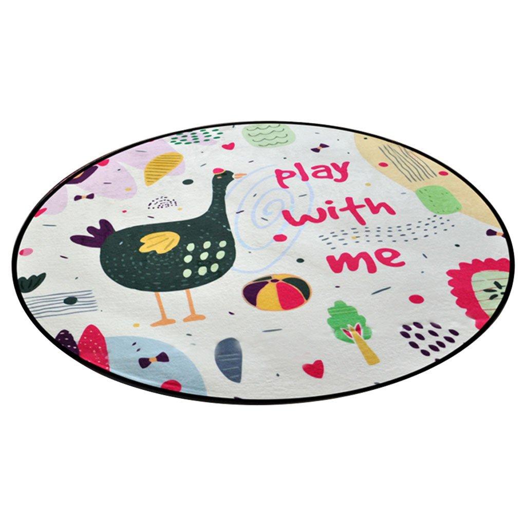 alfombra CHENGYI Redonda Patrón de Dibujos Animados Sala de Estar Creativa Balcón Mesa de café Computadora Silla Piso Hogar Habitación de los niños Juegos de bebé Rastreo