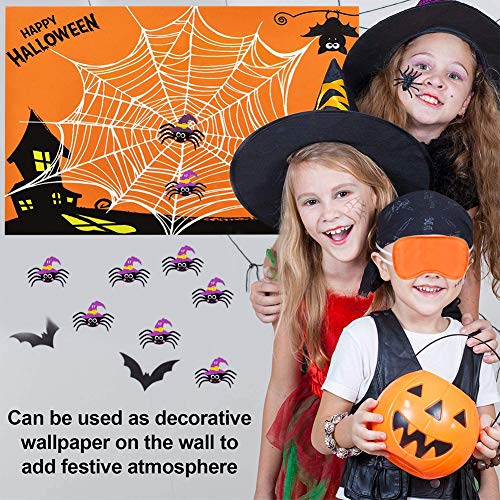 Halloween Party Game Set BESTZY Halloween Party Supplies Pin The Spider on The Web Game Halloween Pin Game Halloween Family Party Fun Game