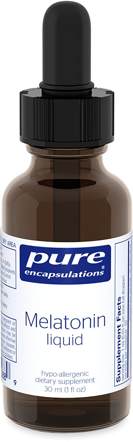 Amazon.com: Pure Encapsulations - Melatonin Liquid - Hypoallergenic Supplement Supports the Bodys Natural Sleep Cycle* - 30 ml.: Health & Personal Care