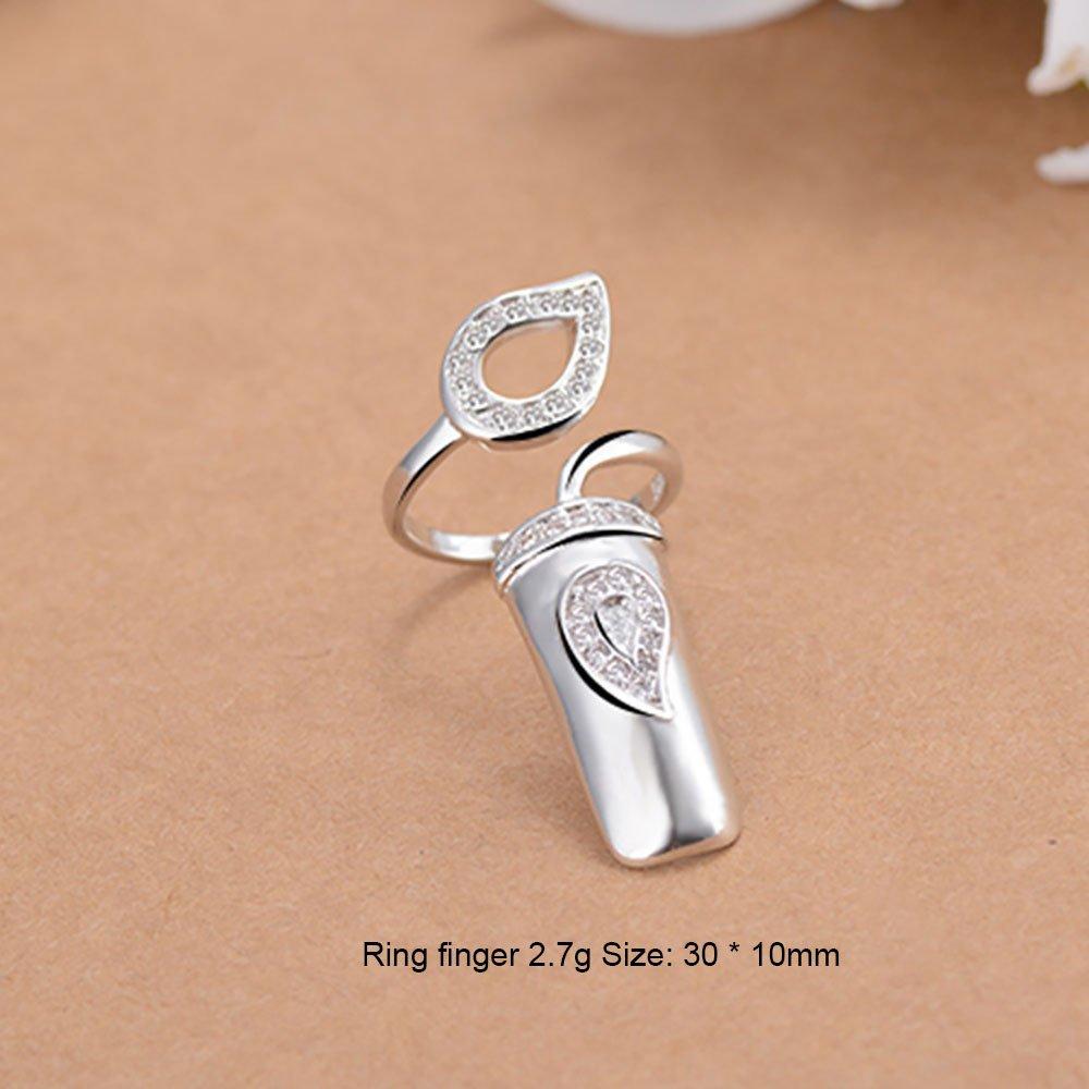Samtlan - Mode Diamante ongles anneau de couverture/alliage spécial unique protection des ongles décoration personnelle/beau cadeau pour petite amie, ladybro(4 pièces réglées)