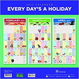 2017 every days a holiday wall calendar tf publishing 9781624386565 books. Black Bedroom Furniture Sets. Home Design Ideas
