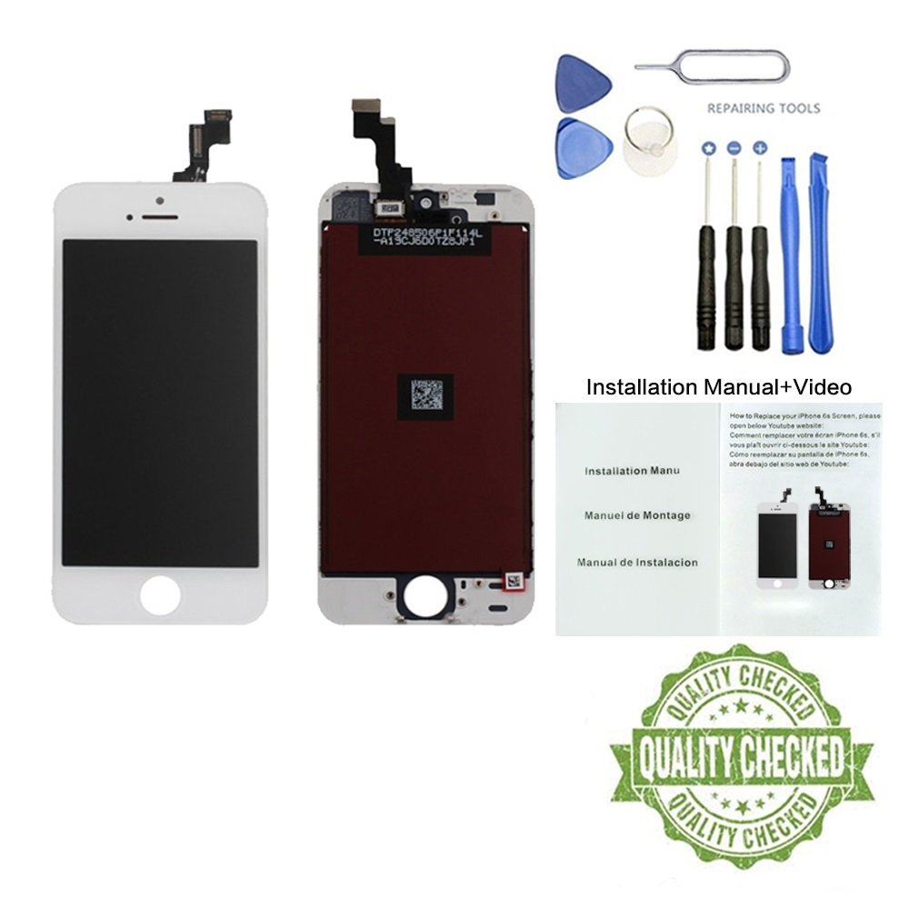 Brand New Display for iPhone 5 5S SE 5C LCD 4.3 inch Touch Screen Replacement Digitizer Display Assembly Includes Free Tools Kit Installation ...