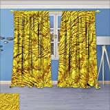 SeptSonne Rustic Home Decor Curtains, Luxury golden texture.Hi res background,Living Room Bedroom Window Drapes 2 Panel Set, 96W x 96L Inch For Sale